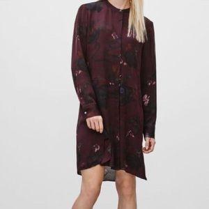 Wilfred bossut dress size xs 100% silk